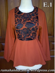 Blus Peplum Orange