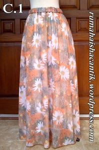 Sifon Motif Bunga Orange